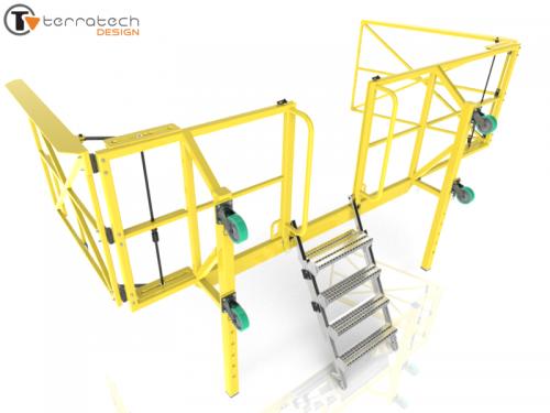 Custom removable fall prevention gaurd rail (3D)