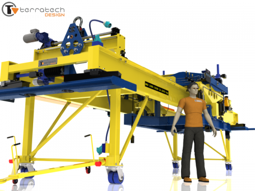 Remote operated lifting / positioning device – 16000 lb capacity – .003in accuracy (3D)