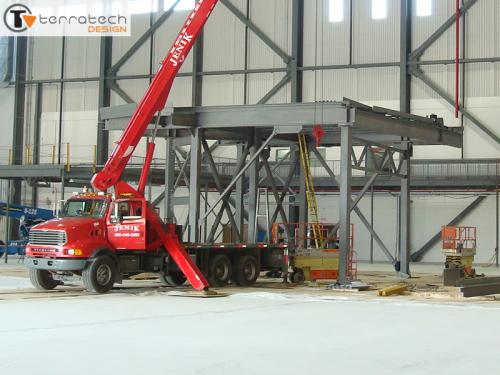 Custom Mezzanine Platform Frame Installation