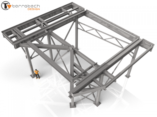 Custom Mezzanine Platform Frame (50 Ton Capacity)