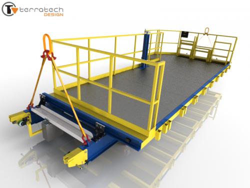 Removable modular access platform (3D)