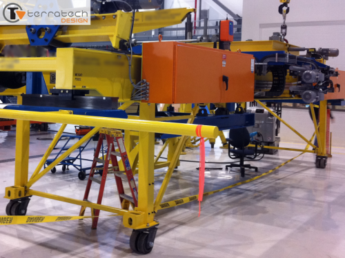 Remote operated lifting / positioning device – 16000 lb capacity – .003in accuracy